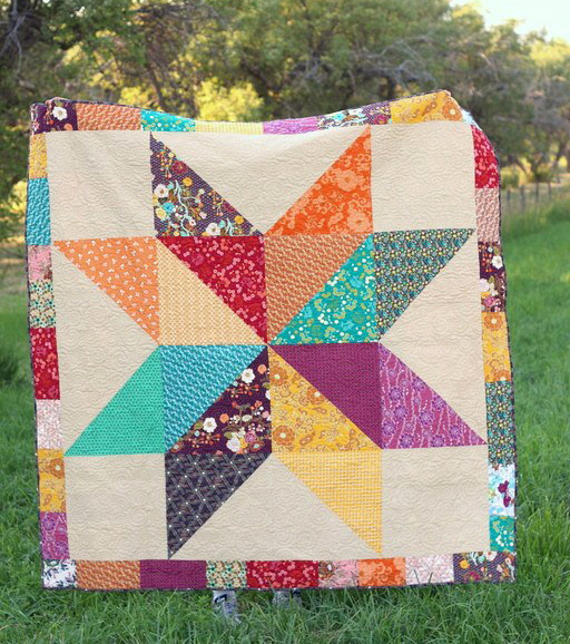 Easy DIY Modern Star Baby Quilt Free Tutorial Designed by Amy Smart of Diary of a Quilter