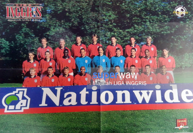 Poster Tim Inggris 1999/2000