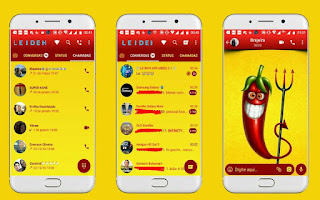 Chili Theme For GBWhatsApp By Leideh