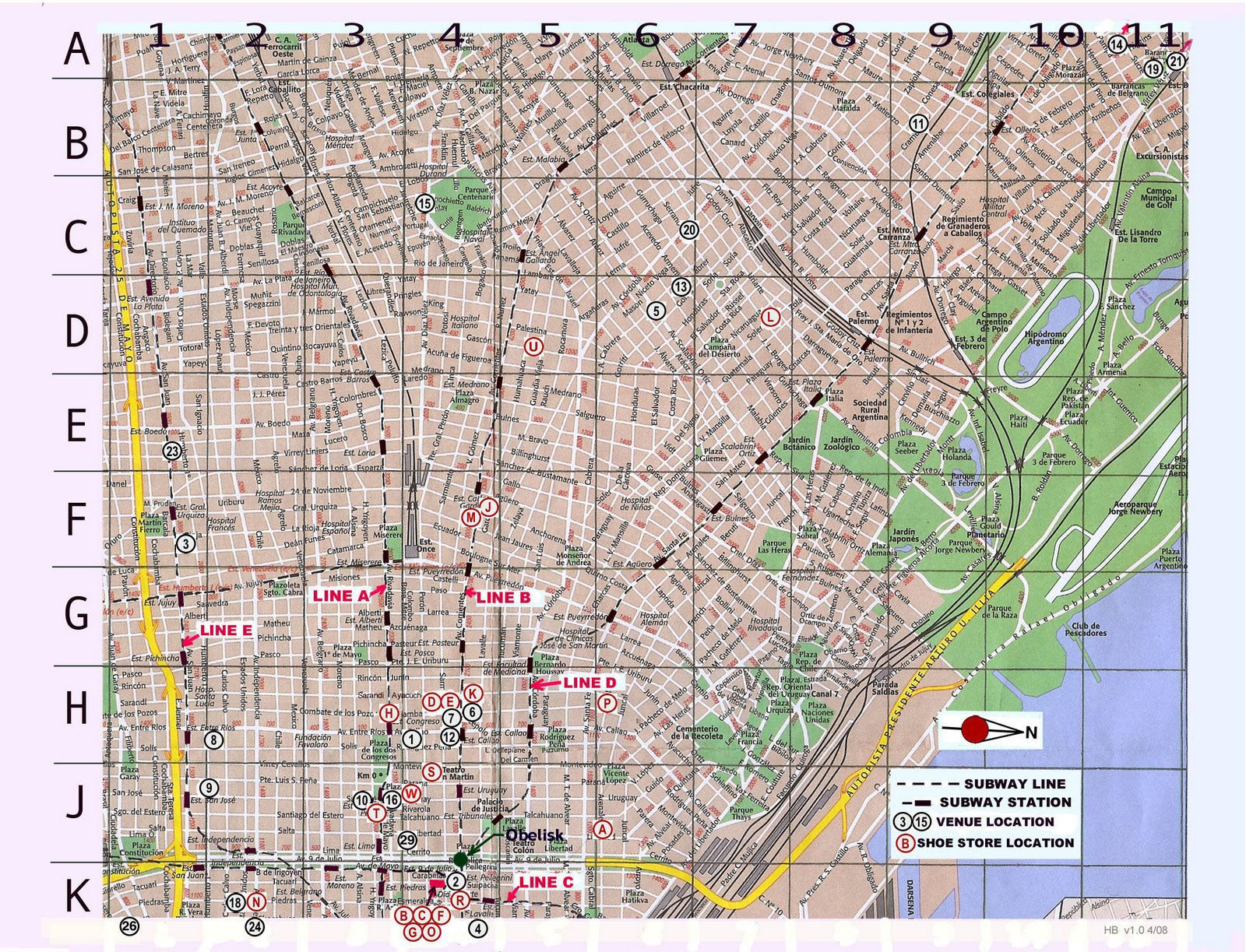 map of buenos aires, argentina free printable maps