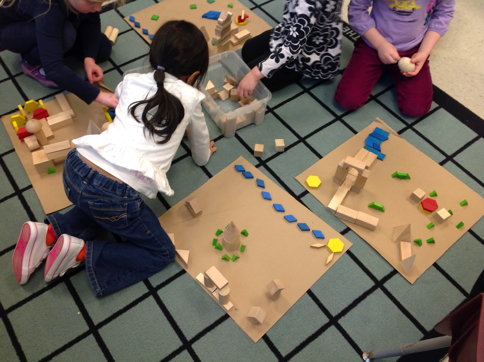 Wonders In Kindergarten Creating With 3 Dimensional Shapes