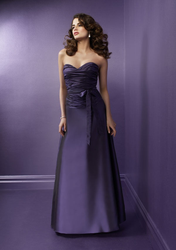 Dark Plum Bridesmaid Dresses