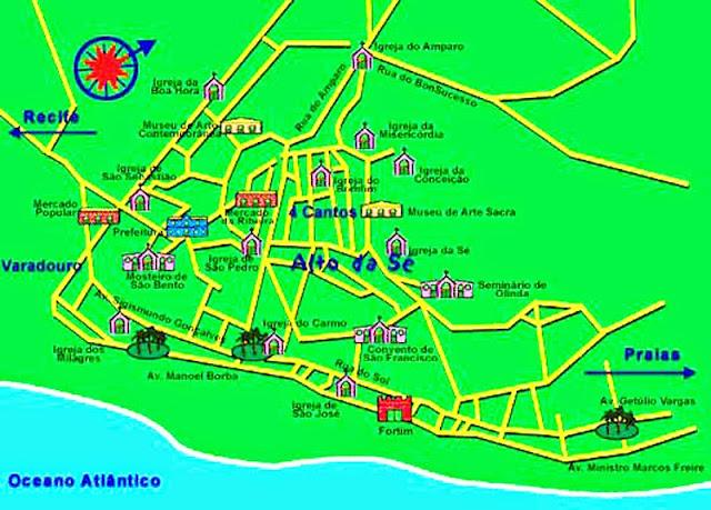 Mapa de Olinda
