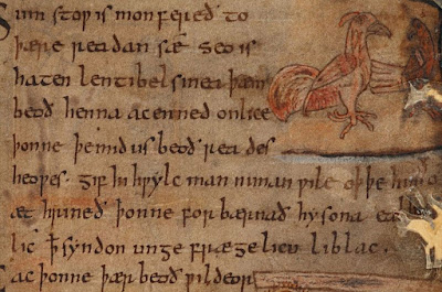 Χειρόγραφο από το μεσαιωνικό αγγλοσαξονικό ποίημα Μπέογουλφ