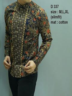 baju batik pria bahan dobi