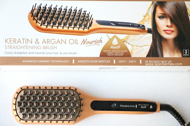 Remington Keratin and Argan Straightening Brush Review