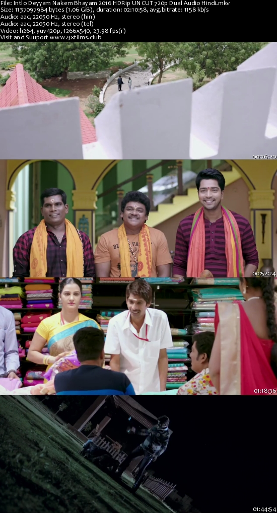 Intlo Deyyam Nakem Bhayam 2016 HDRip UNCUT 720p Dual Audio Hindi 1GB