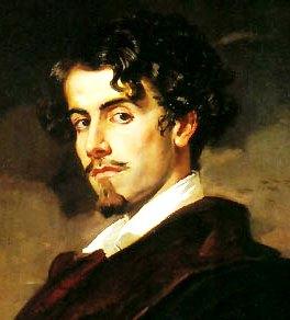 Imagen de Gustavo Adolfo Bécquer con bigote y barba