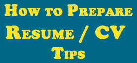 how to prepare resume | CV | Download Resume