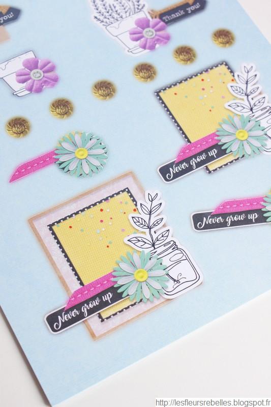 Blocs d'illustrations détails dessins fleurs