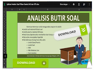Aplikasi Analisis Soal Pilihan Ganda UAS dan UTS Format Excel