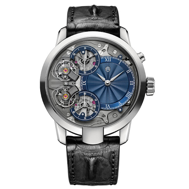 Armin Strom Mirrored Force Resonance with blue guilloché dial