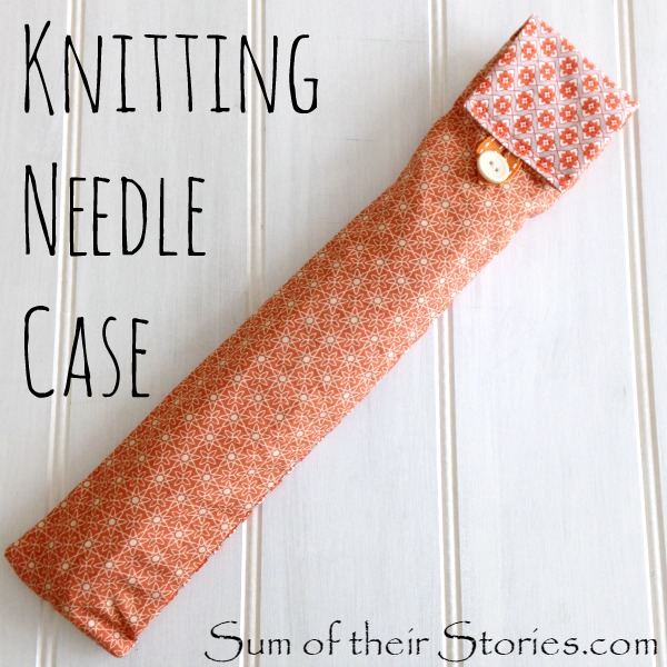 Pattern for a knitting needle case