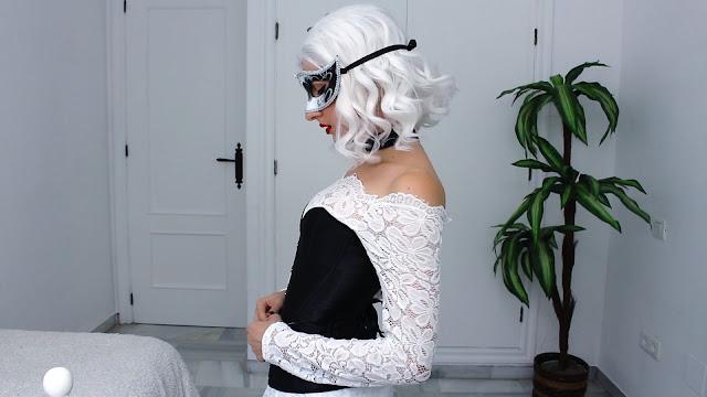 halloween, costume, vampire, wig, corset, carnival, tumble, grunge
