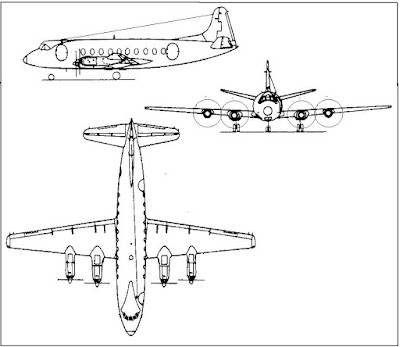 Vickers Viscount taslak.