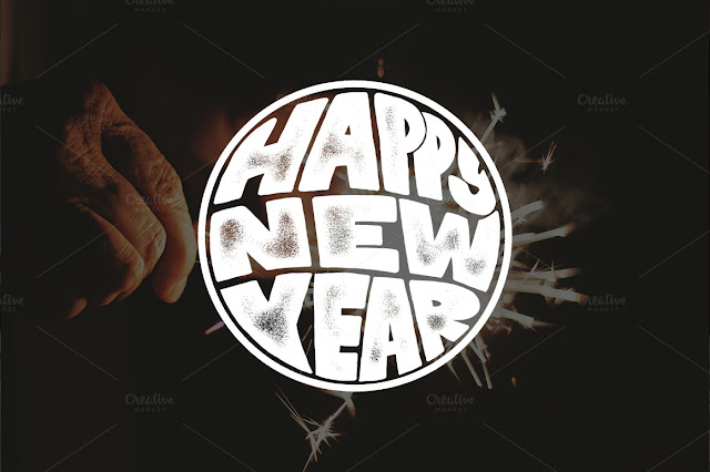 Happy new Years Lettering Overlays