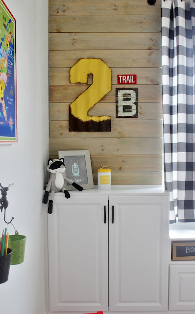 DIY Plank Wall: Kid's Camp Themed Playroom By Delightfully Noted