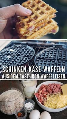 Outdoor Kitchen 09 | Leckere Schinken-Käse-Waffeln aus dem Cast-Iron Waffeleisen | Waffle-Iron-Recipes | Rezepte Waffeleisen | Pie-Iron
