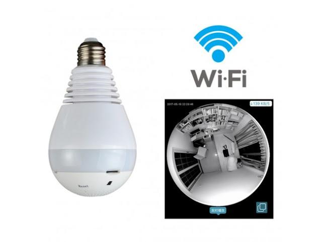 Como Configurar  E Instalar Câmera Lampada  Espião LED WiFi IP HD 360º