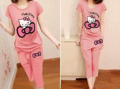 Jual Baju Setelan Setelan Hello Kitty - 12322