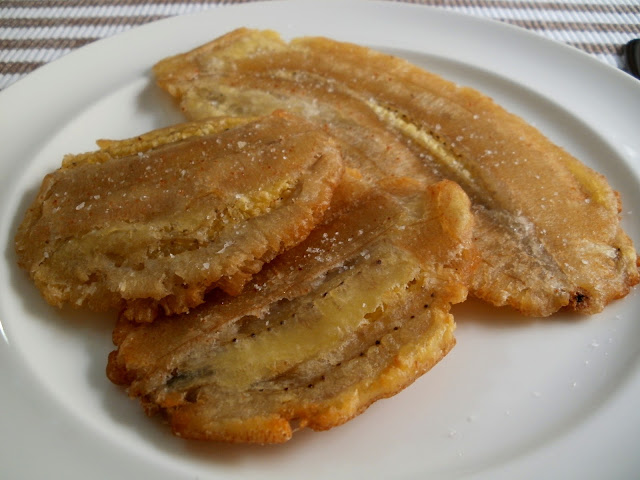 Patacones de plátano de Canarias