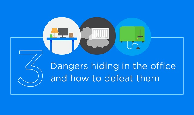 3 Dangers hiding in the office and how to defeat them