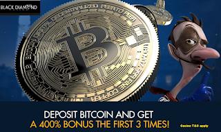 400% Bitcoin Deposit Bonus | Black Diamond Casino