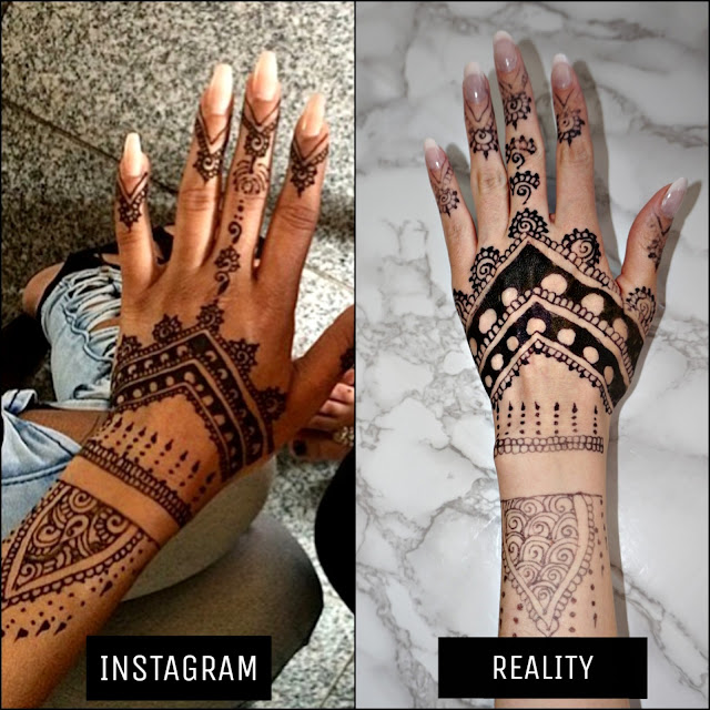 INSTAGRAM VERSUS REALITY BLACK HENNA DISAPPOINTMENT ANGEL BEAUTY PARLOUR