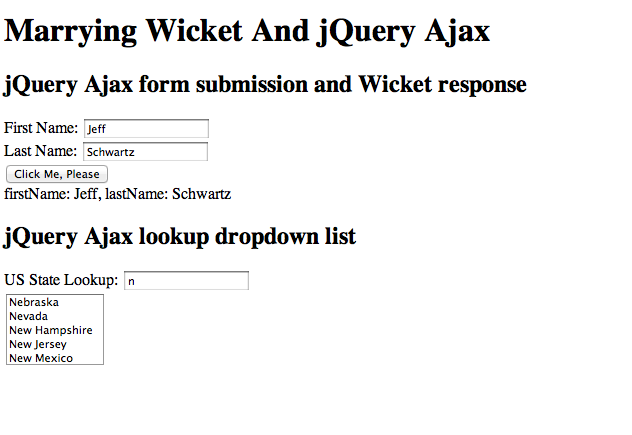 The Wicket Evangelist: Marrying Wicket And jQuery Ajax