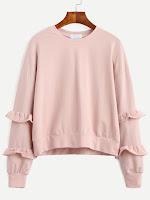 http://es.shein.com/Pink-Drop-Shoulder-Ruffle-Trim-Sweatshirt-p-306037-cat-1773.html?aff_id=8741