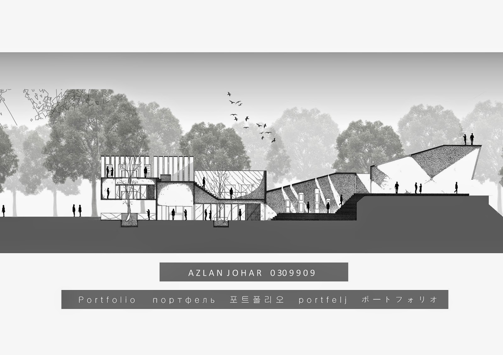 Minimalist Architectural Presentation