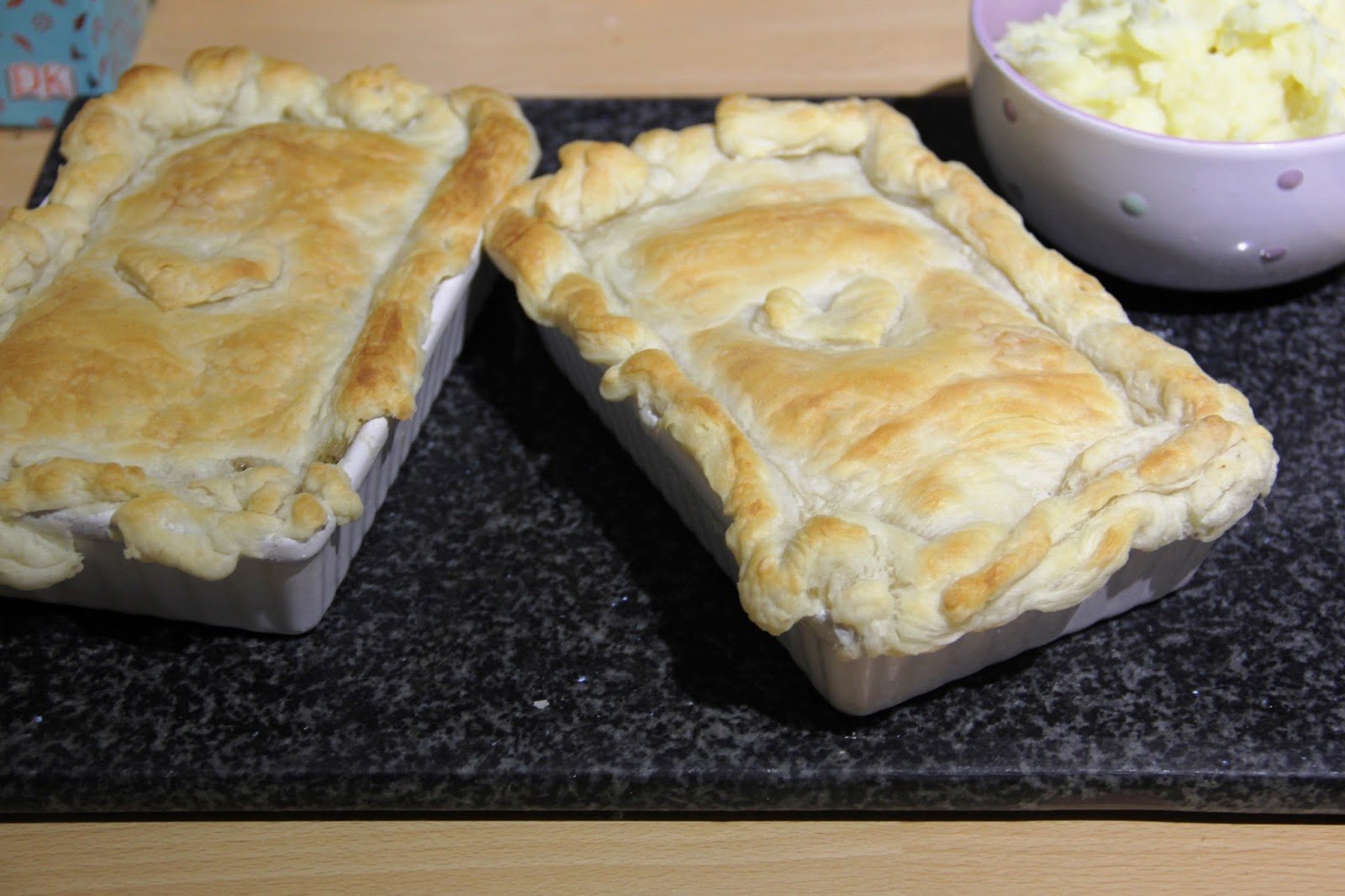Chicken, Bacon and Leek Pie.