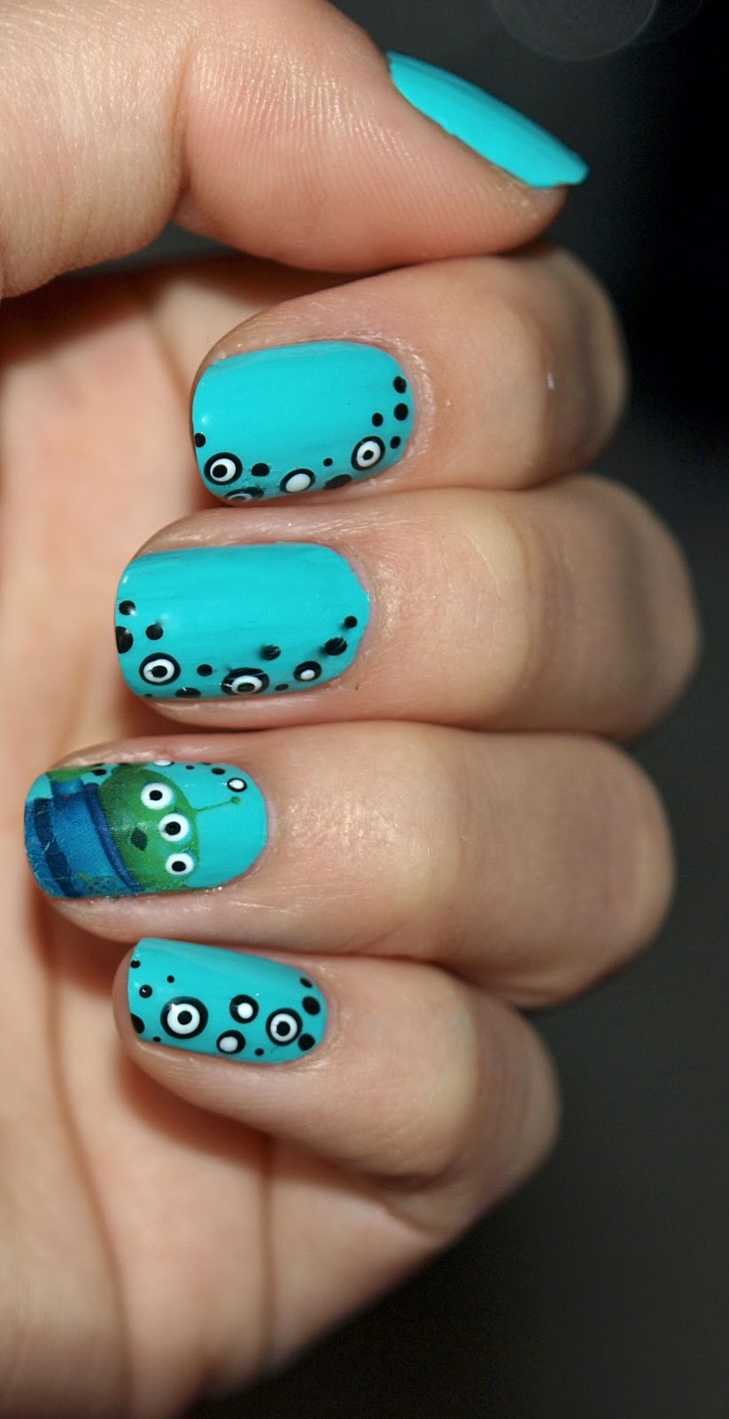 Toy Story Green Alien Nails The Happy Sloths Beauty