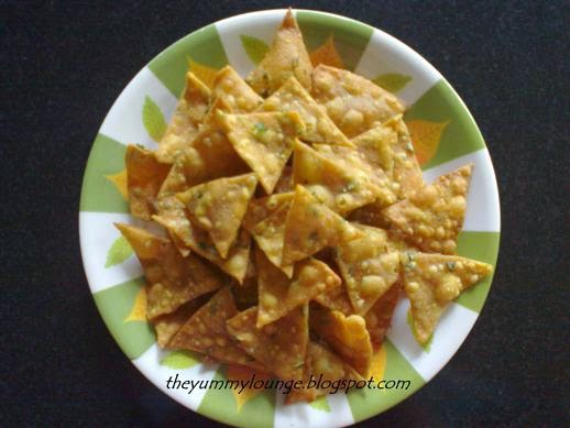Easy Homemade Indian Whole Wheat Tortilla Nachos Chips Recipe