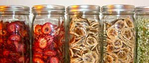 Our garden produce is preserved.