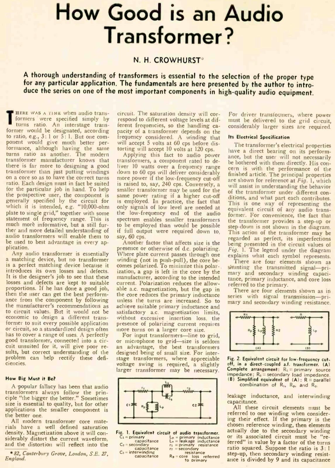 retro vintage modern hi-fi: output transformer
