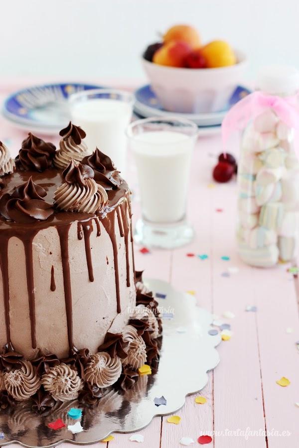 Cómo hacer un Drip Cake, Tarta chorreando