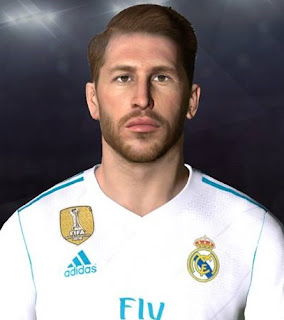 PES 2017 Face & Tattoo Sergio Ramos v2 by Facemaker Ahmed El Shenawy
