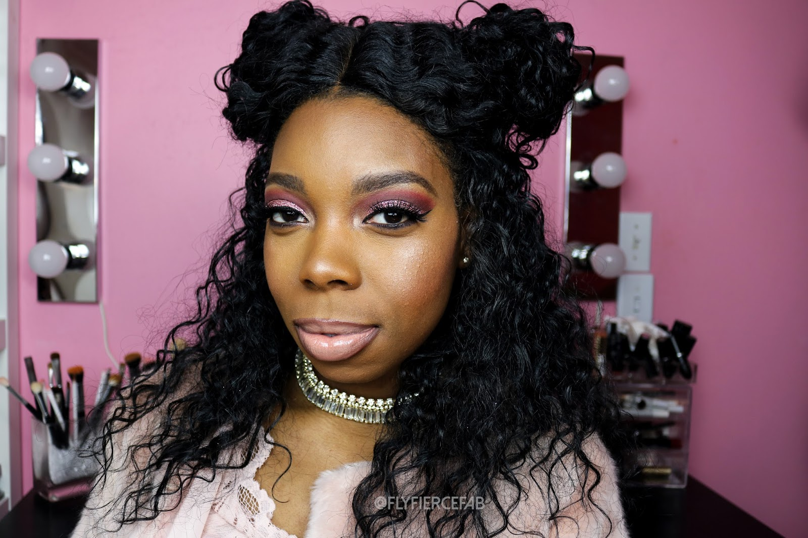 c4d7b66926a I'm really enjoying creating my Holiday videos, and I just uploaded a Pink  Glitter Glam Holiday Makeup Tutorial (bet you can't guess my favorite color  LOL) ...