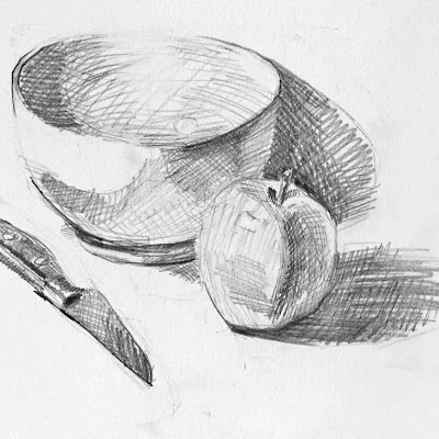 Daily Art 11-8-17 still life sketch in graphite