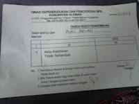 tanda terima berkas permohonan akte kelahiran