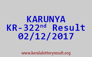 KARUNYA Lottery KR 322 Results 2-12-2017
