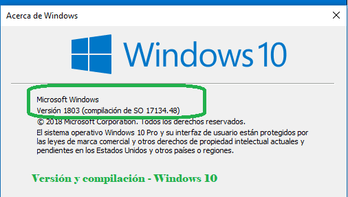 Ver que version de Windows 10 tengo instalada