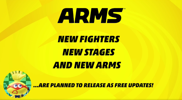 ARMS Nintendo Switch free updates stages fighters arms after launch release
