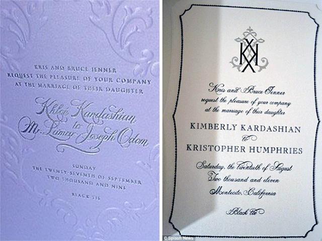 convite casamento kardashian