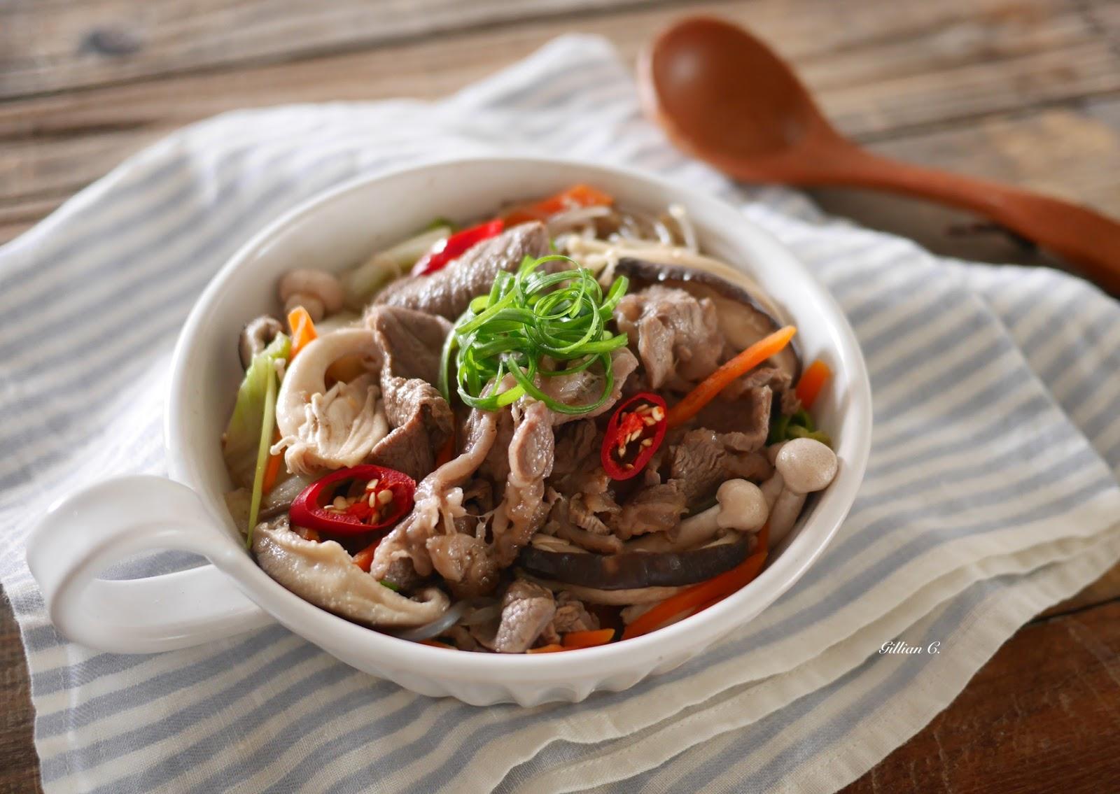 《就愛吃肉》P.132 韓式烤肉香菇鍋