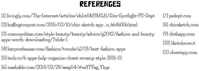 Fashion App References