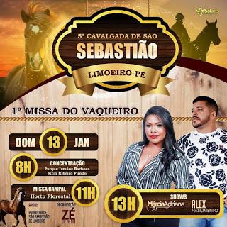 Zé de Nena confirma Cavalgada de São Sebastião e Missa do Vaqueiro