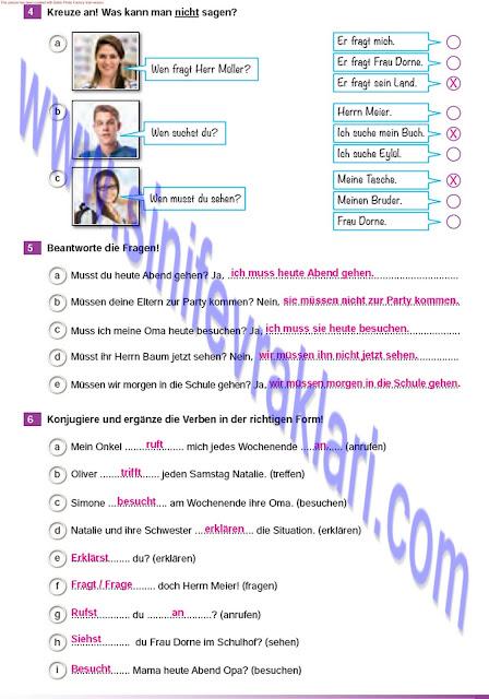 Almanca A1.2 Çıpa Yayınları Çalışma Kitabı Cevapları Sayfa 17