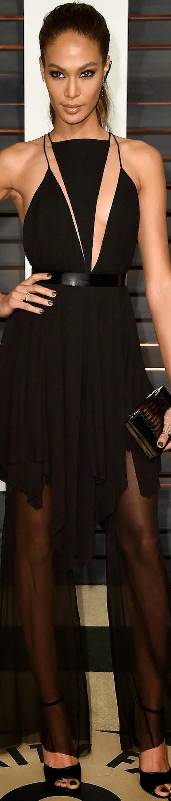 2015 Vanity Fair Oscar Party  Joan Smalls
